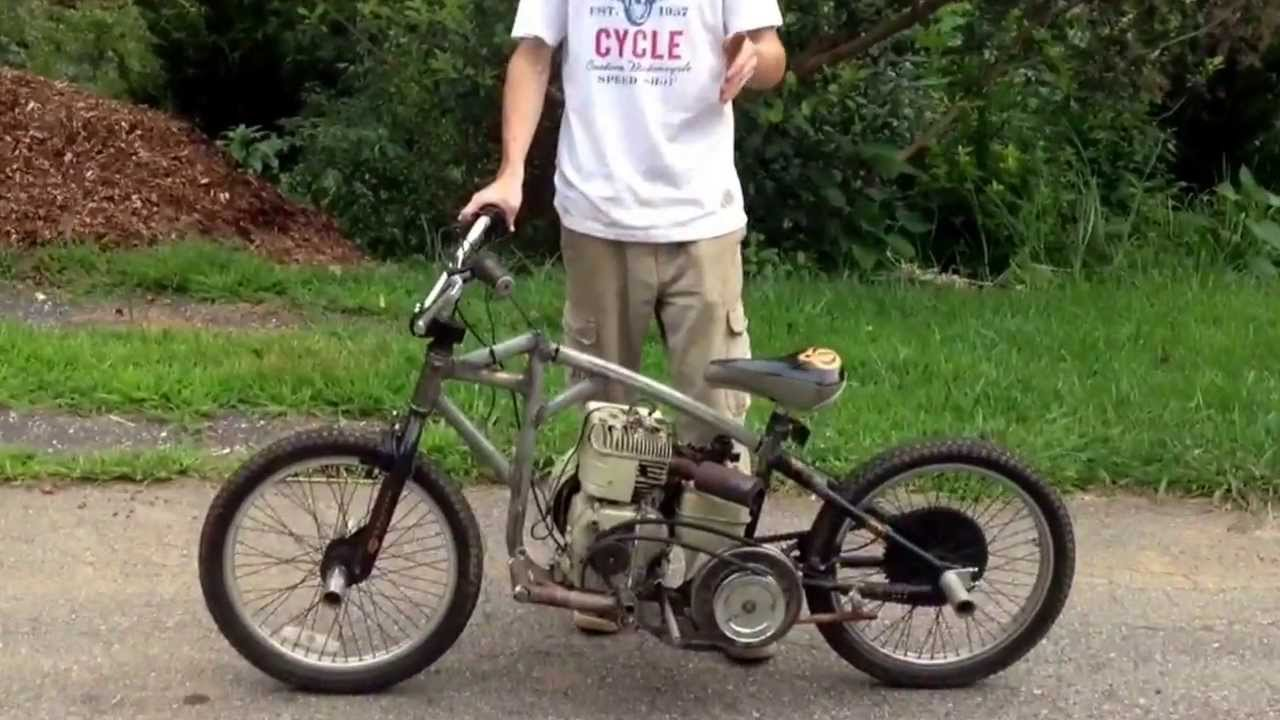 My Home Made 6 5 Hp Mini Motorcycle Youtube