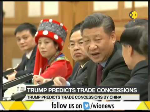 US President Donald Trump predicts trade concessions by China