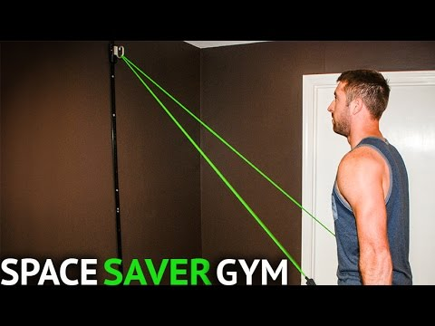 Space Saver Gym Resistance Bands Wall Anchor | At Home Workout