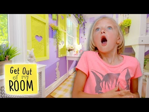 Girl Designs BUNNY Themed Bedroom for Her Little Sister | Get Out Of My Room | Universal Kids