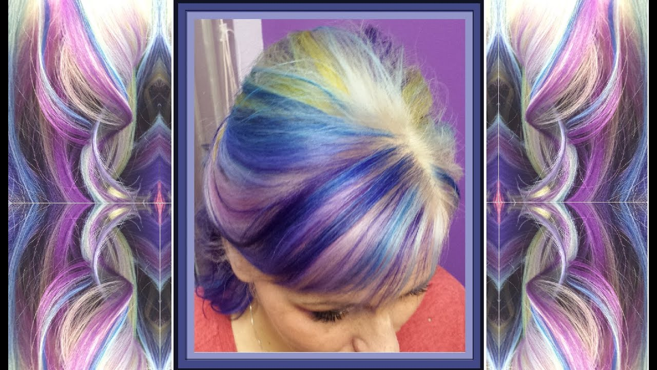 Kaleidoscope Pastel Rainbow Hair Color With Pravana Chomasilks