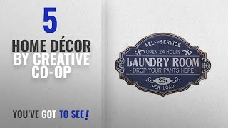 """Top 10 Home Décor By Creative Co-Op [ Winter 2018 ]: 20""""L X 13.25""""H Metal Laundry Room Wall Decor"""