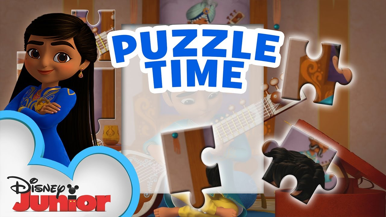 Play Us Your Song 🎸| Puzzle Music Video | Mira, Royal Detective | Disney Junior