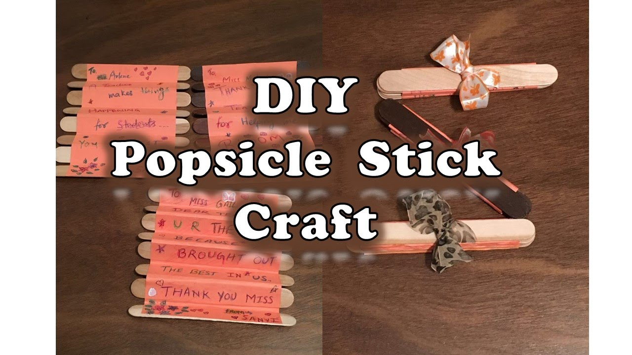 Diy Popsicle Stick Cards For Any Occasion Cute Gift On Mothers