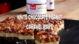 How to Make The Best White Chocolate Peanut Caramel Bars  Caramel Bars Recipe