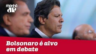 Bolsonaro é alvo em penúltimo debate entre candidatos à Presidência