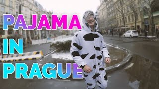WEARING PAJAMA IN PRAGUE | ONESIE IN PUBLIC
