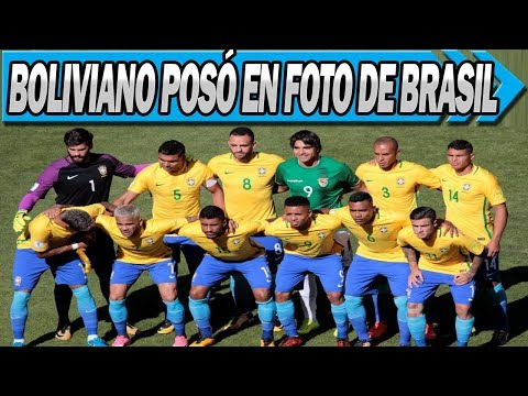 Futbolista Boliviano Se Coló En Foto de la Selección de Brasil