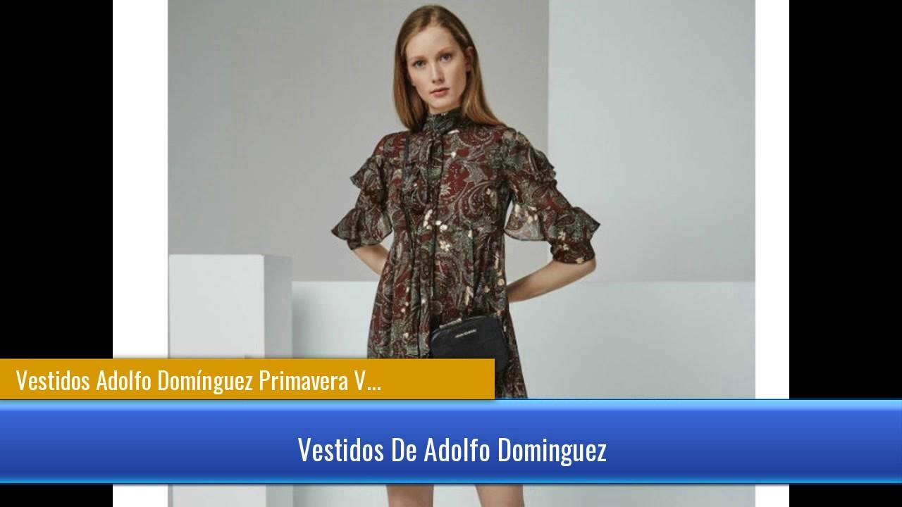 U adolfo dominguez vestidos fiesta 2019