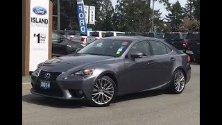 2014 Lexus IS 250 Leather, Backup Camera, AWD Review| Island Ford
