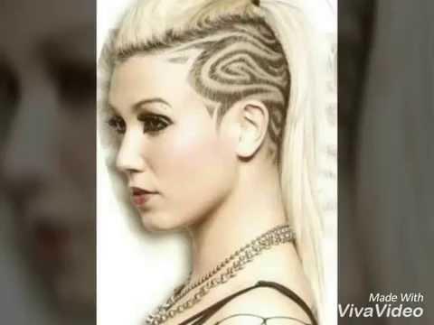 рисунки на волосах фото
