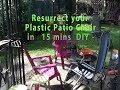How to clean and renew by painting your plastic Patio chair in 15 mins  DIY