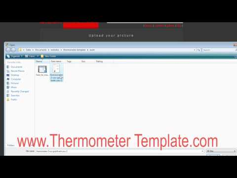 How to make a thermometer template poster