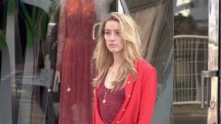 EXCLUSIVE : Amber Heard shooting a L Oreal commercial on the Croisette in Cannes