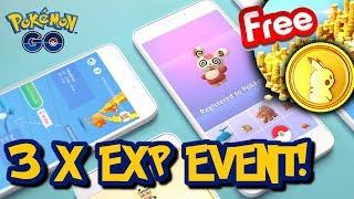3 X EXP EVENT W POKEMON GO! POKECOINSY ZA DARMO! POKEMON GO