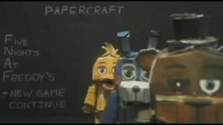 fnaf papercraft