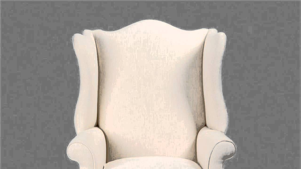 HOW TO : Reupholster An Ethan Allen Wing Back Chair   YouTube