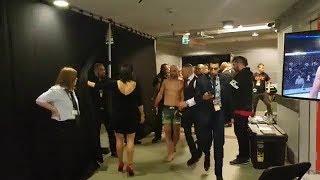 Conor McGregor Uses Homophobic Slur Backstage After Artem Lobov Loss to Andre Fili - UFC Gdansk