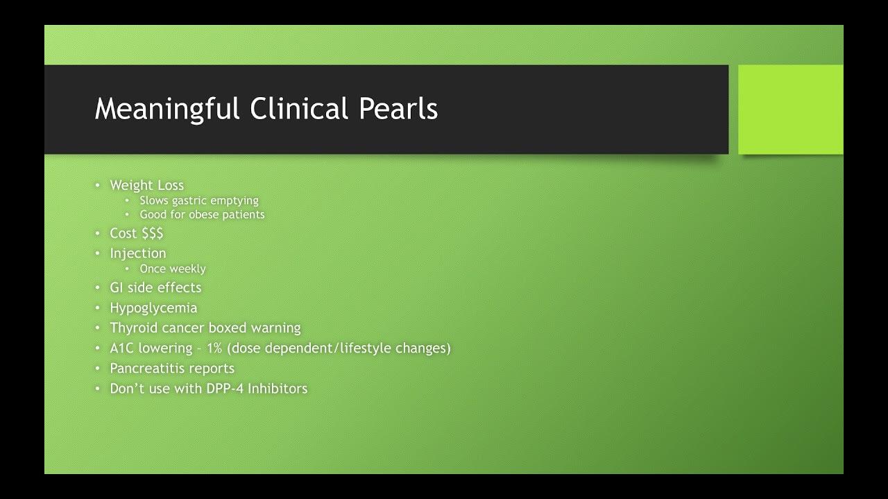 GLP-1 Clinical Pharmacy Pearls - YouTube
