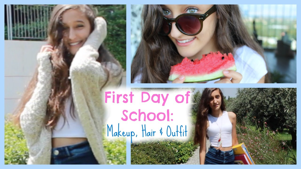 Kinder Garden: First Day Of School Makeup, Hair & Outfit!