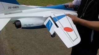 片岸さん T4 64mmツインのフルフラップの2回の着陸の様子 パイロット:カバトット 制作者:KATAGISHI 機体詳細/写真: http://ggejr-club.e-rc.jp/eventPlane?epid=...