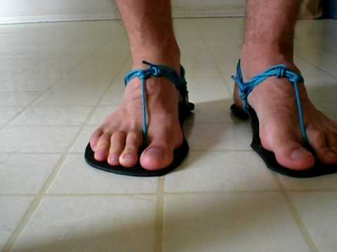 How To Tie Huarache Sandals Youtube