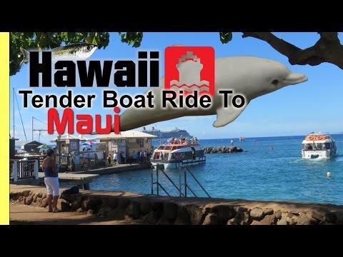 Lahaina Maui Hawaii Tender Boat