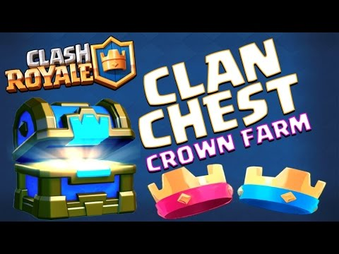 CLAN CHEST :: Clash Royale :: FARMING CROWNS + GRAND CHALLENGE AND CHEST OPENING!