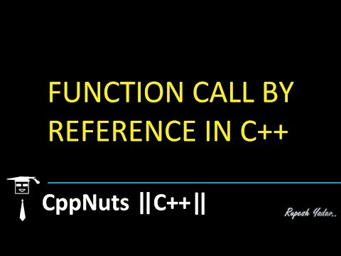 Function Call By Reference In C++