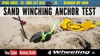 Sand Winching, best sand anchors off-road