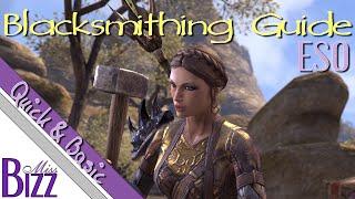 ESO Blacksmithing Guide - Quick & Basic - How to blacksmith in Elder Scrolls Online