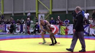 2014 Senior National Championships: 74 kg Cleo Ncube vs. Chris Laverick