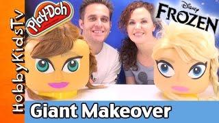 Giant Lego Head FROZEN PRINCESS Play-Doh Makeover