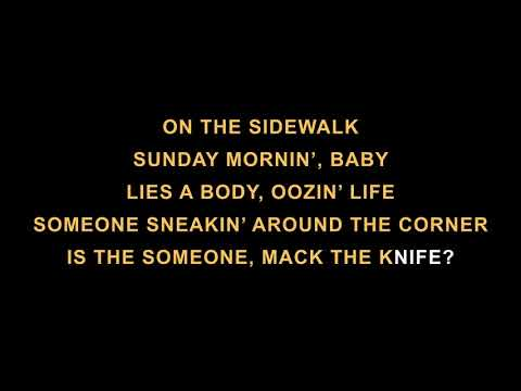 Karaoke Mack The Knife - Louis Armstrong