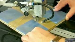 Cutting A Decor With Diamond Bandsaw