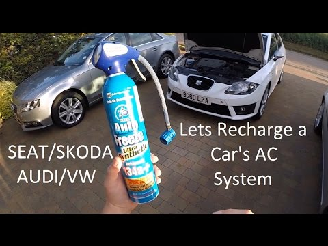 How to Recharge a Car Air Conditioning System SEAT LEON TDI VW/AUDI/SKODA/SEAT