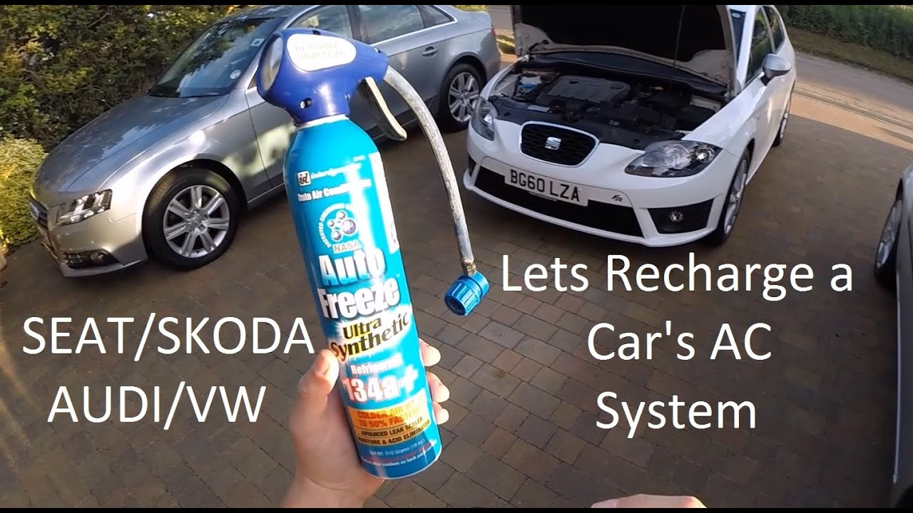How to Recharge a Car Air Conditioning System SEAT LEON TDI VW/AUDI  #08AAC3