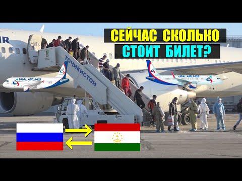 Сколько стоят авиабилеты на данный момент из Таджикистана в Россию и обратно из России в ТЧ