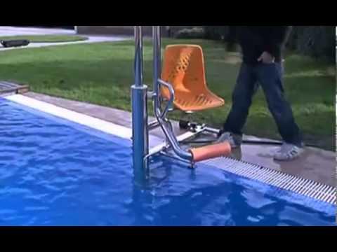 Elevador hidr alico de piscinas para personas de mobilidad for Suministros para piscinas