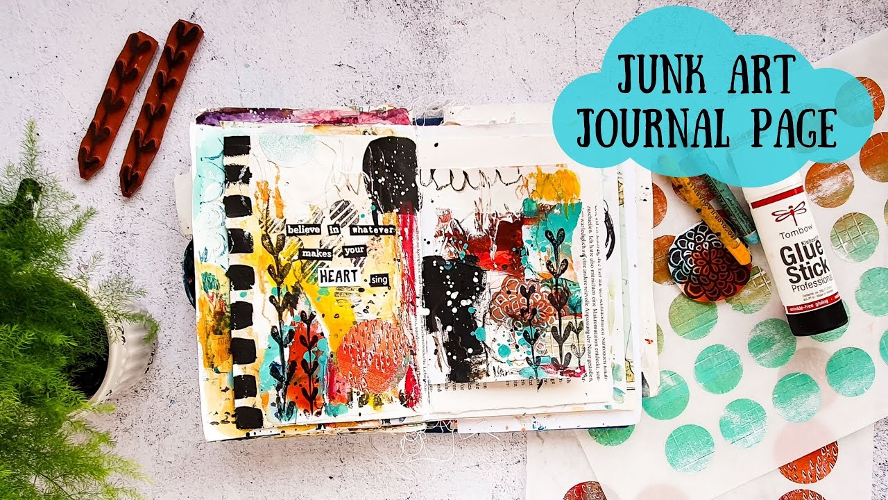 Grungy Mixed Media Art Journal Collage
