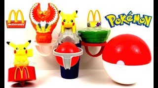 2017 McDONALD'S POKEMON MOVIE 20 HAPPY MEAL TOYS FULL SET 6 KIDS UNBOXING COLLECTION REVIEW JAPAN
