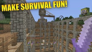 How To Make Minecraft Survival More Fun! Minecraft Console Survival