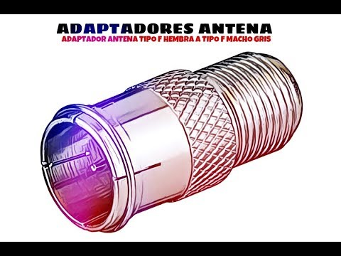 Video de Adaptador antena tipo F hembra a tipo F macho  Gris
