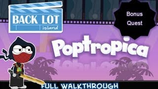 Poptropica Cheats for Back Lot Island Bonus Quest