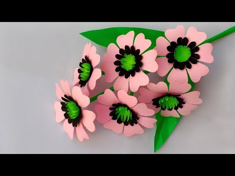 DIY: Paper Flower Stick | How to Make Beautiful Paper Flower Stick | Diy Paper Flowers
