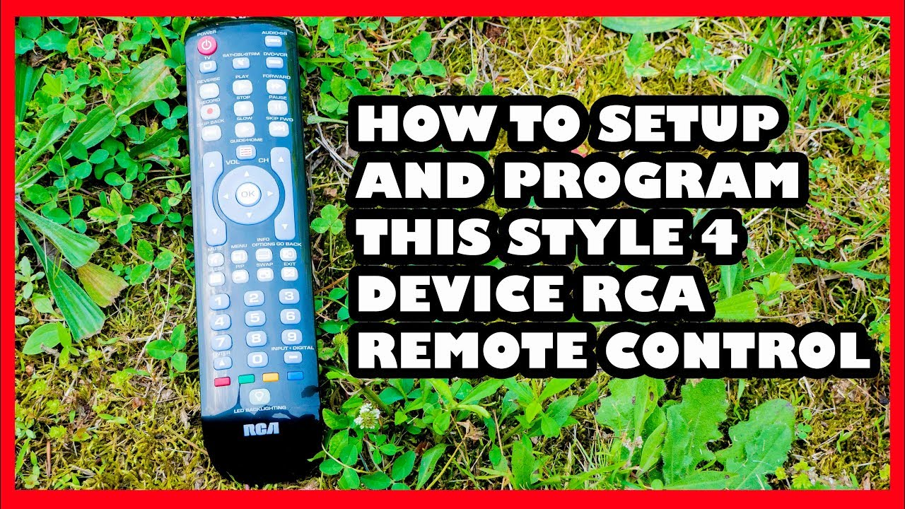 How to Program This RCA 4 Device Remote in