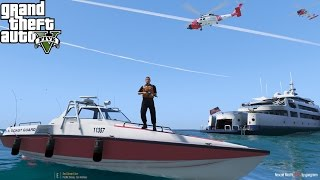 GTA 5 USCG Mods | Coast Guard Rappels Onto Drug Smuggling Cartel Boat | JayHawk & C-130 Air Support