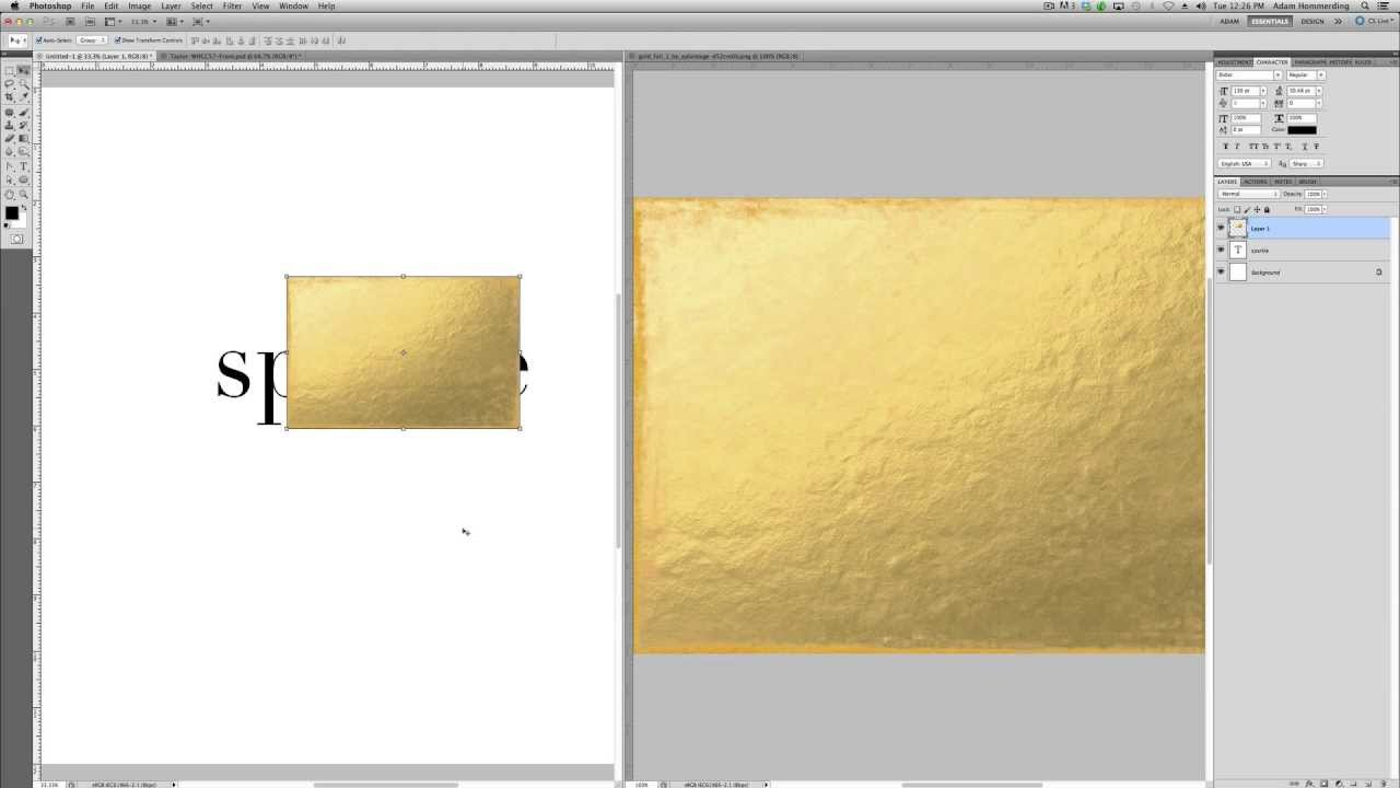 Create Gold Foil Text In Photoshop // Tip Tuesday | The