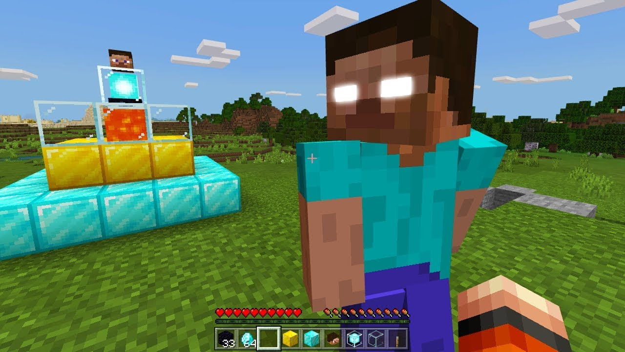 How to spawn herobrine in minecraft pe 100% works YouTube