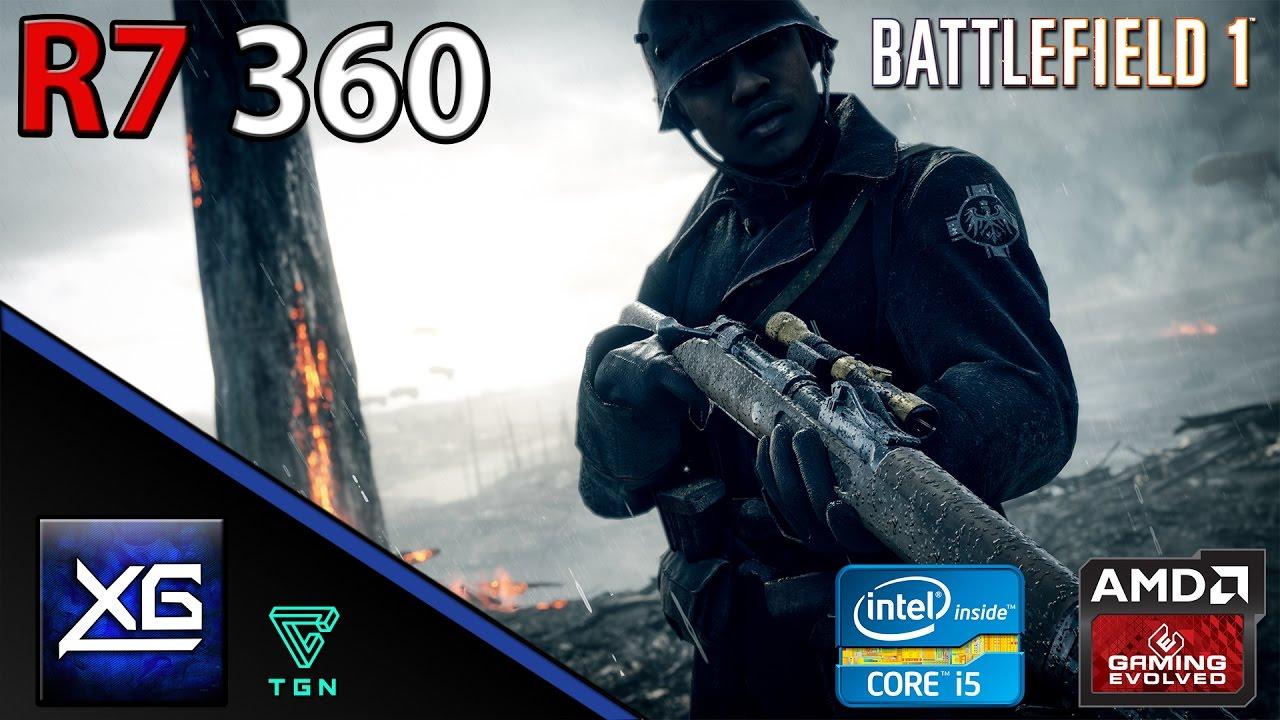 Battlefield 1 On AMD Radeon R7 360 OC 2GB GDDR5 | 1080p | HIGH | FPS - TEST